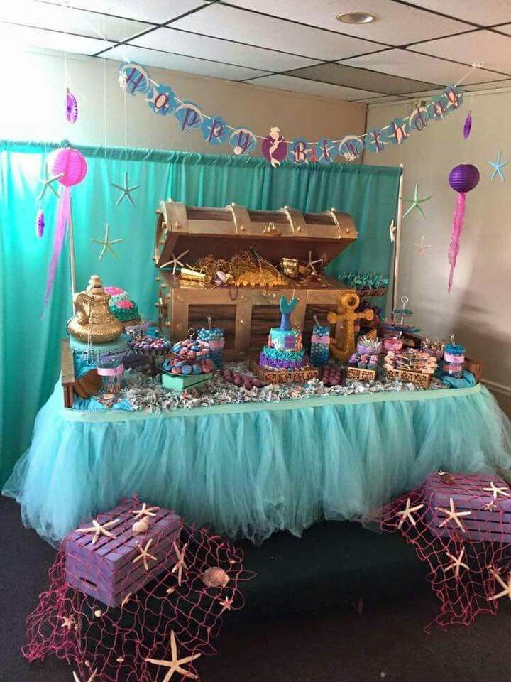 Under the sea party table ideas