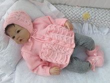 Strickanleitung Babygarnitur Sonia Gr 5662 3 Teilig Stricken Und