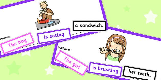 SVO Sentence Cut Up Cards - svo, sentence, cut up, cards, sen ...