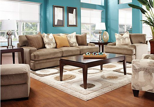 For A Cindy Crawford Home Fontaine 7 Pc Living Room At Rooms To Go