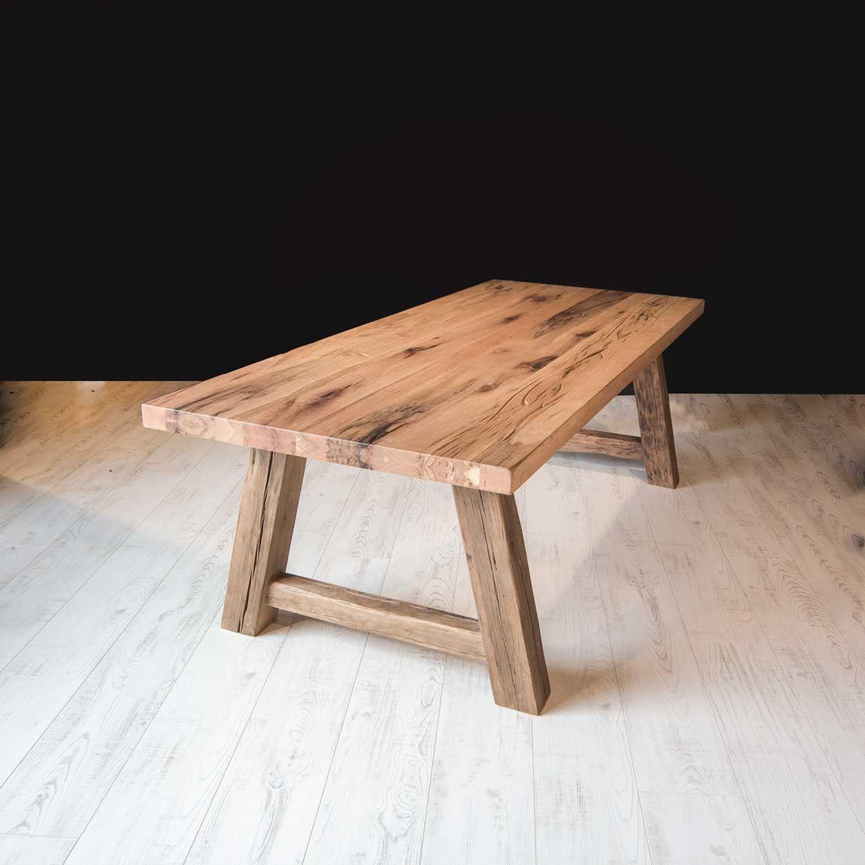 Goede Robuuste tafel Rustiek Eiken Eettafel met A-Poot   Eettafel TS-66