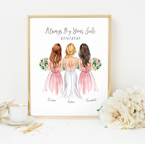 Customized Bridesmaids Gift Gifts For Bridesmaids Bridesmaid Gift Ideas Bride Gifts In 2020 Customized Bridesmaid Gifts Bridesmaids Personalized Bride Gifts