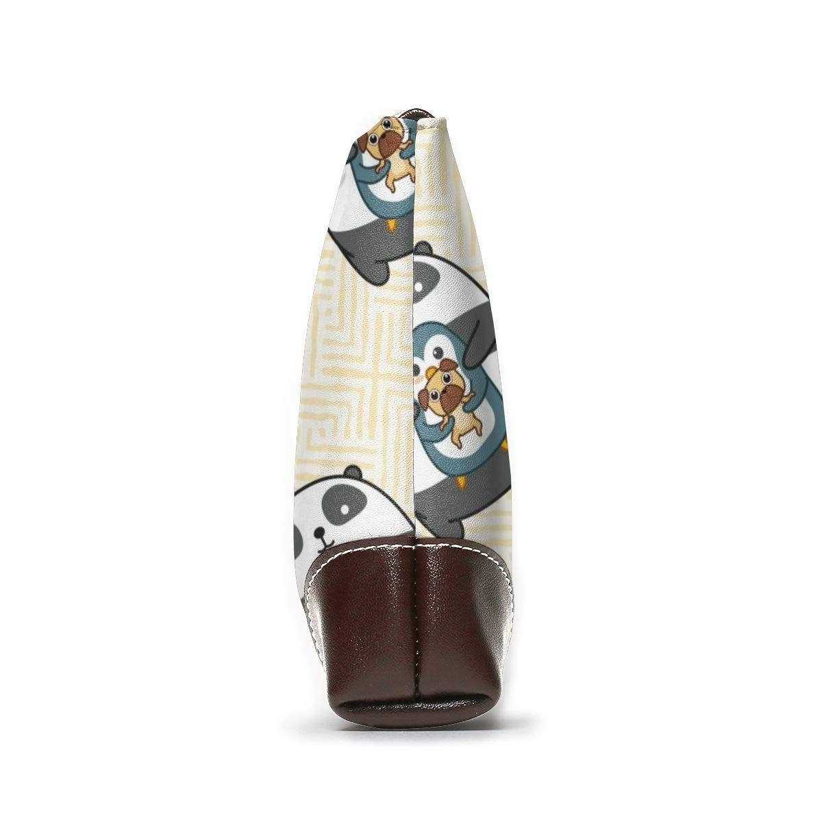 Panda Penguin Dog Pattern Leather Wristlet Clutch Purses Bag Crossbody Clutch Wallet Handbags For Women