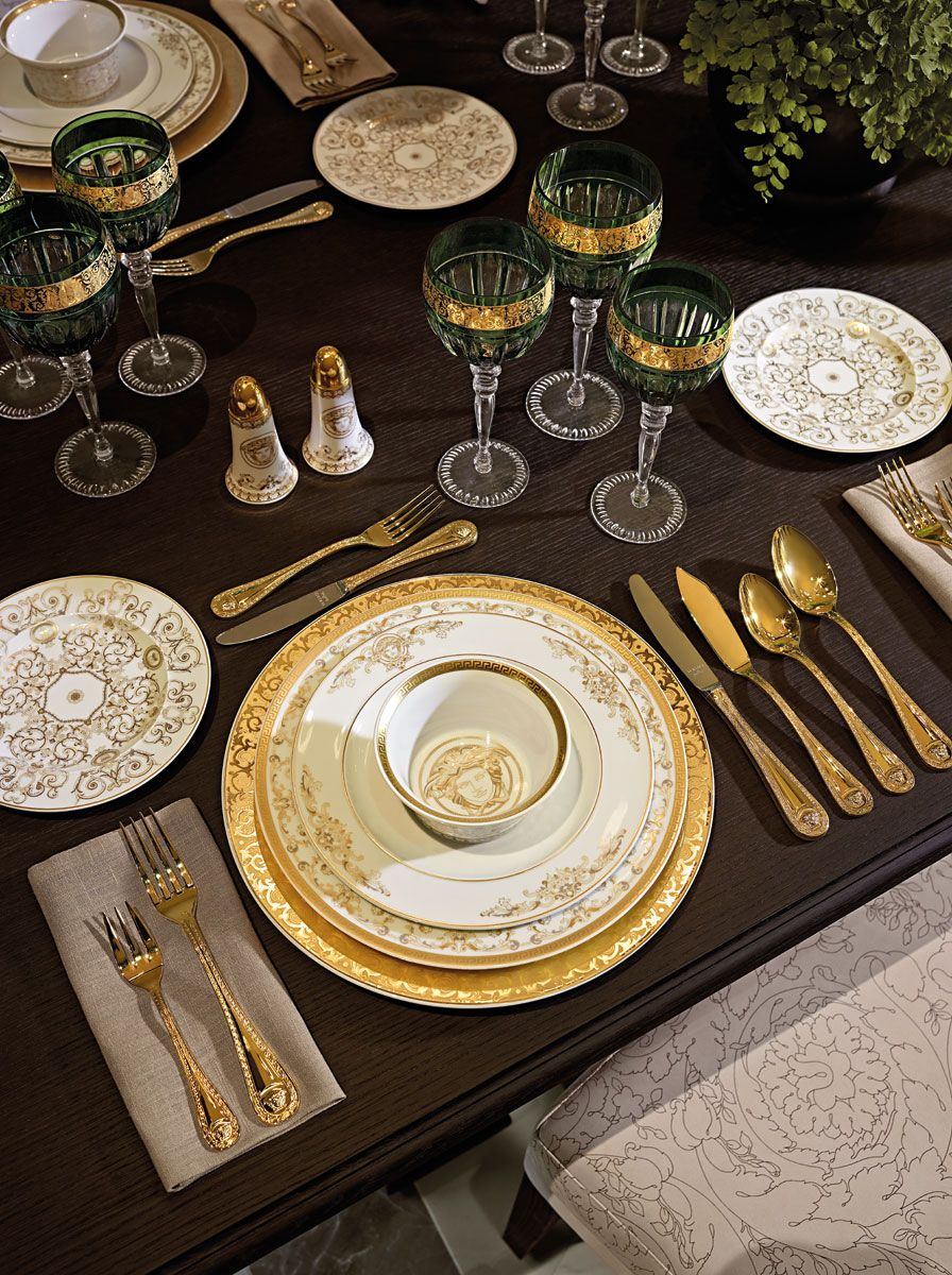 Tablescape versace home tres beau entertaining for Table versace