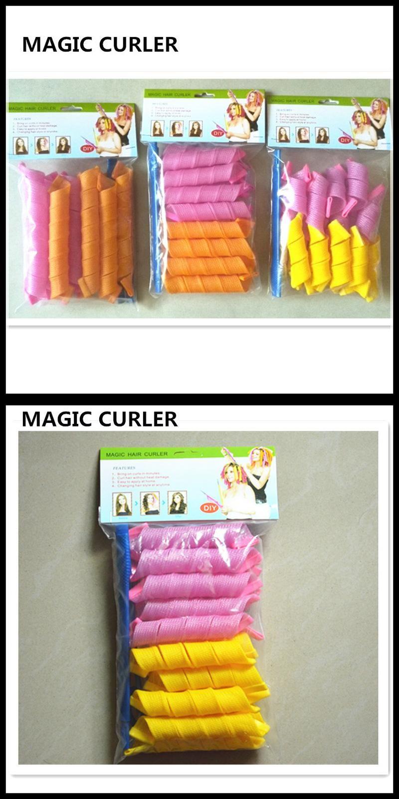 [Visit to Buy] 1 pack Hair Rollers DIY Plastic Hair Styling Tools Magic Volume Magic Hair Roll QQ Volume Curl Curling Bar Suit #Advertisement