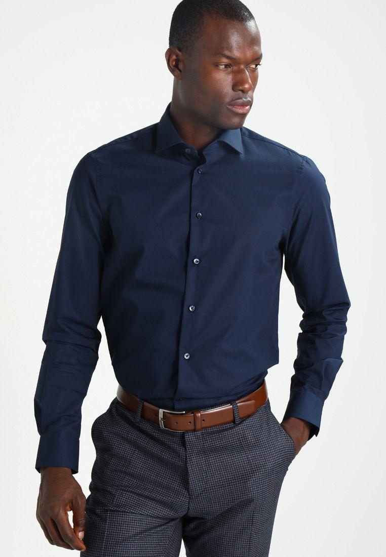 Tailored Fit Overhemd.Slim Fit Zakelijk Overhemd Blue Zalando Nl Kleding