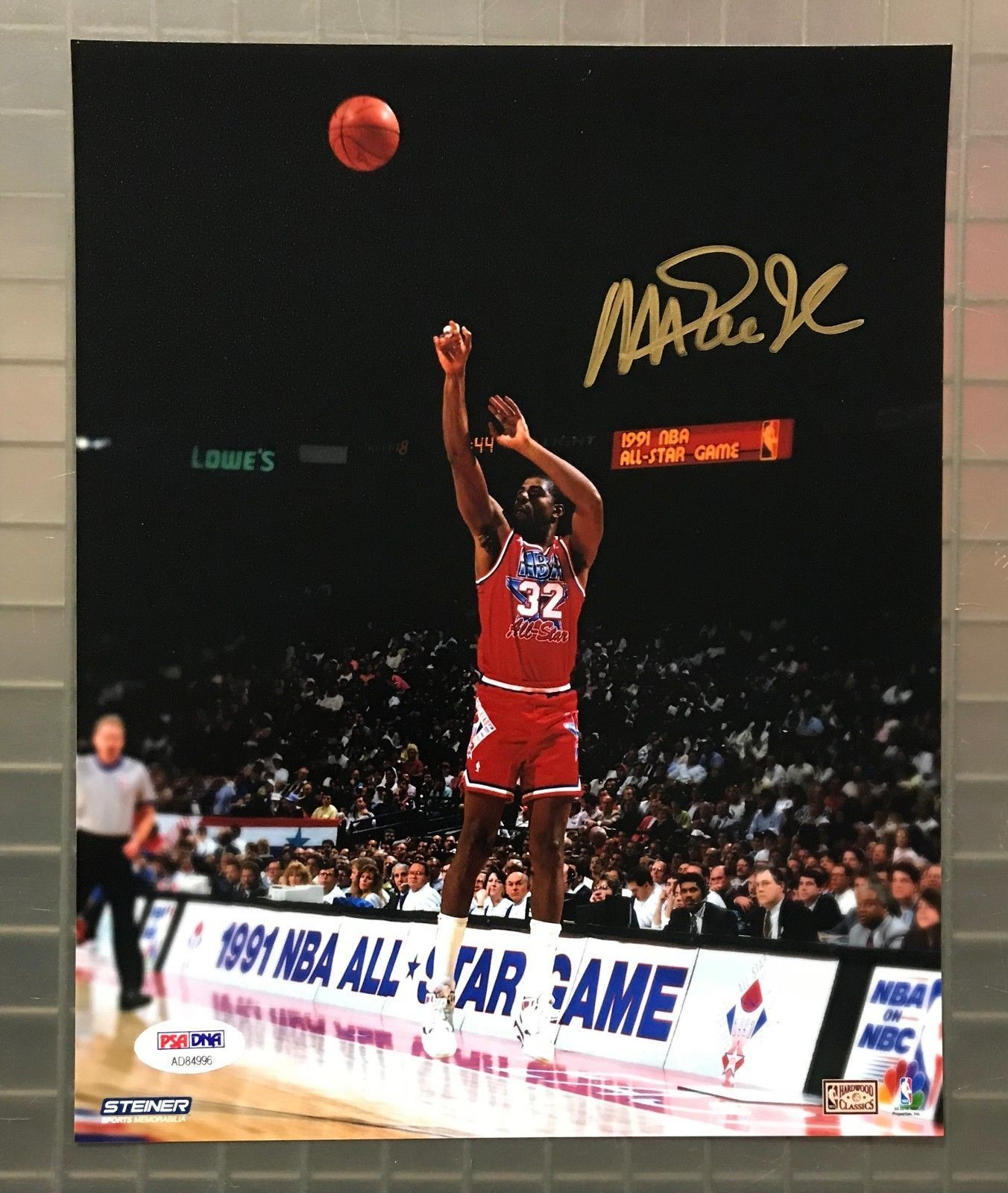 228e7b315d8 Magic Johnson Signed 8x10 All Star Game Photo Autographed PSA DNA Sticker  ONLY  Basketball