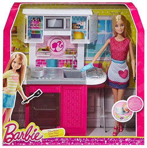 Barbie - Muñeca con mueble de cocina (Mattel CFB62) Barbie http ...