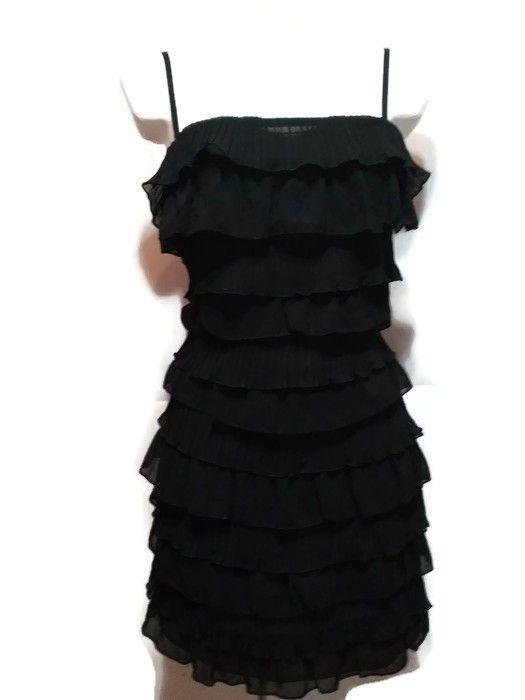 3673e951e1 Mini sukienka falbanki h m retro taneczna imprezowa czarna - vinted ...