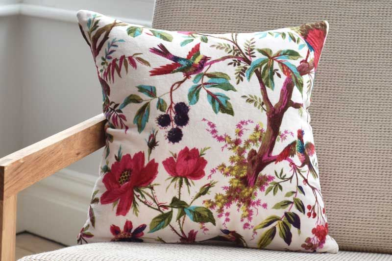 Paradise Bird Cushion Cover Silver Lining Futon Company