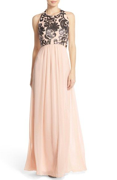 Vince Camuto Sequin Chiffon Gown Nordstrom Maid Of Honor In 2018