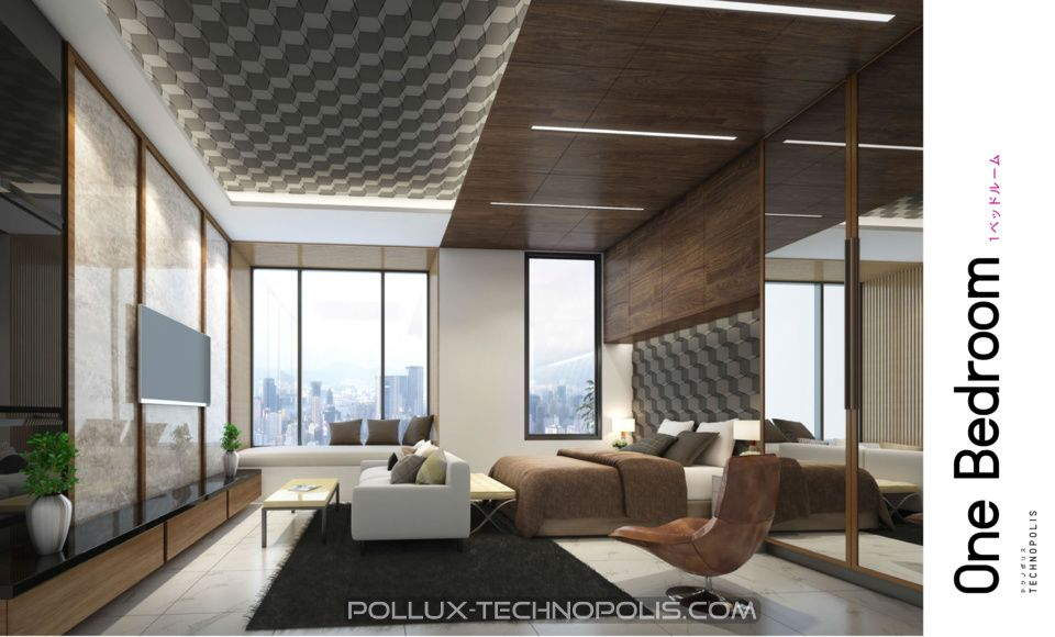 Interior design apartemen Pollux Karawang tipe 1 bedroom