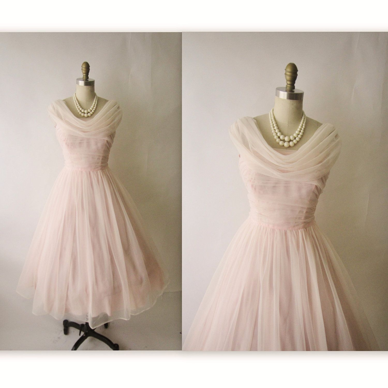 Gown dress for wedding party  us Chiffon Dress  Vintage us Ruched Pink Chiffon Wedding