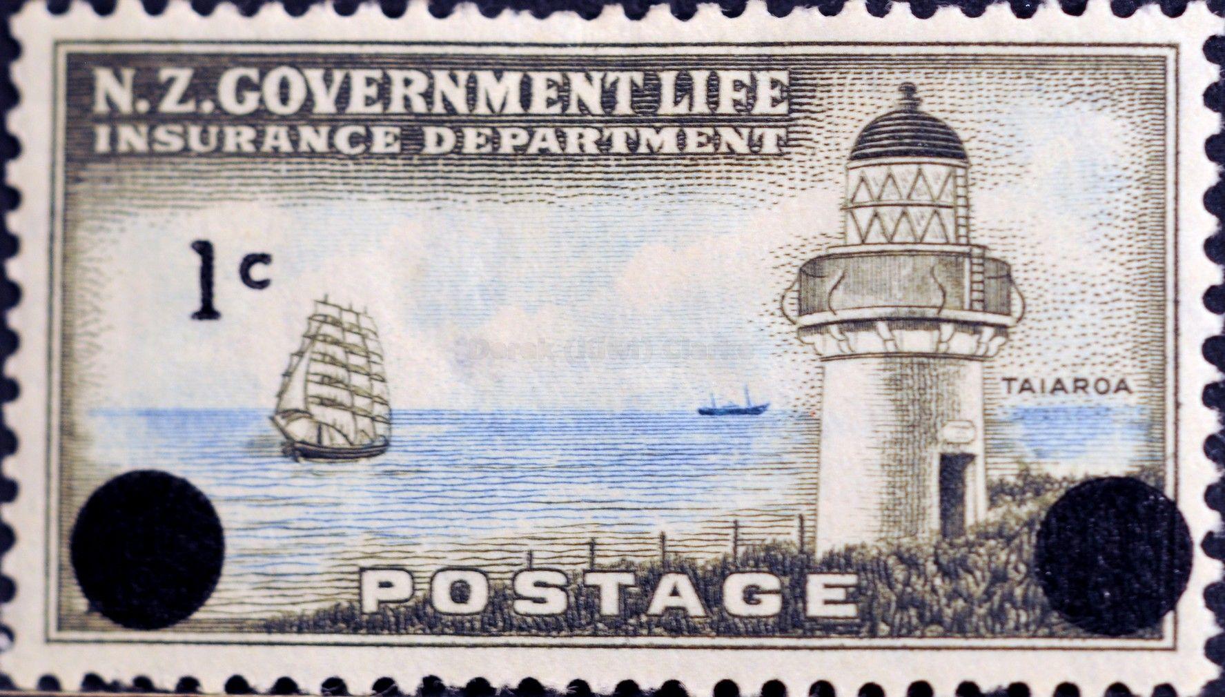 New Zealand 201 1967 Life Insurance Department Lighthouse