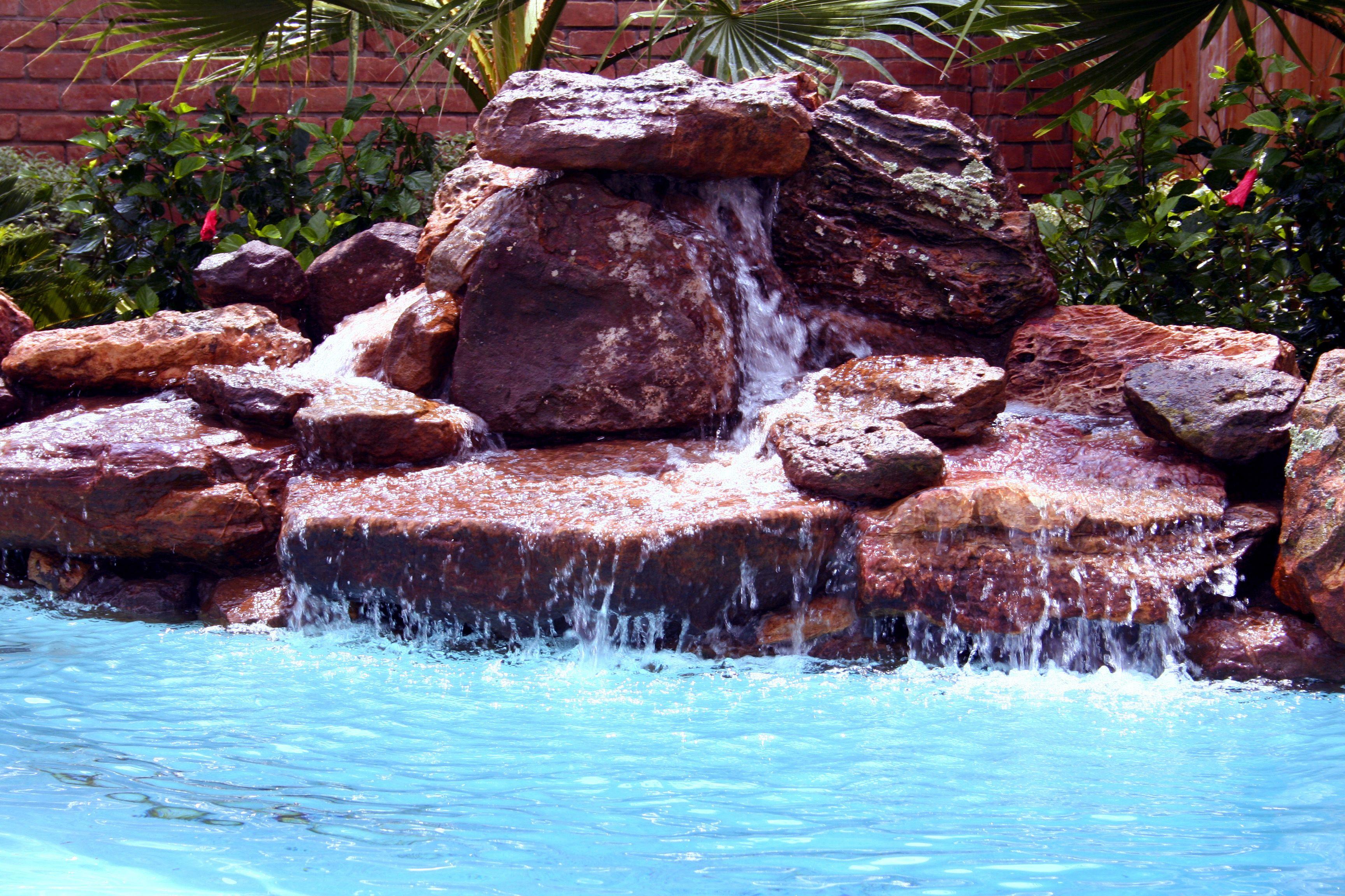 Moss Rock Waterfall  Rock WaterfallSwimming Pool WaterPool Water  FeaturesWaterfallsOutdoor ...