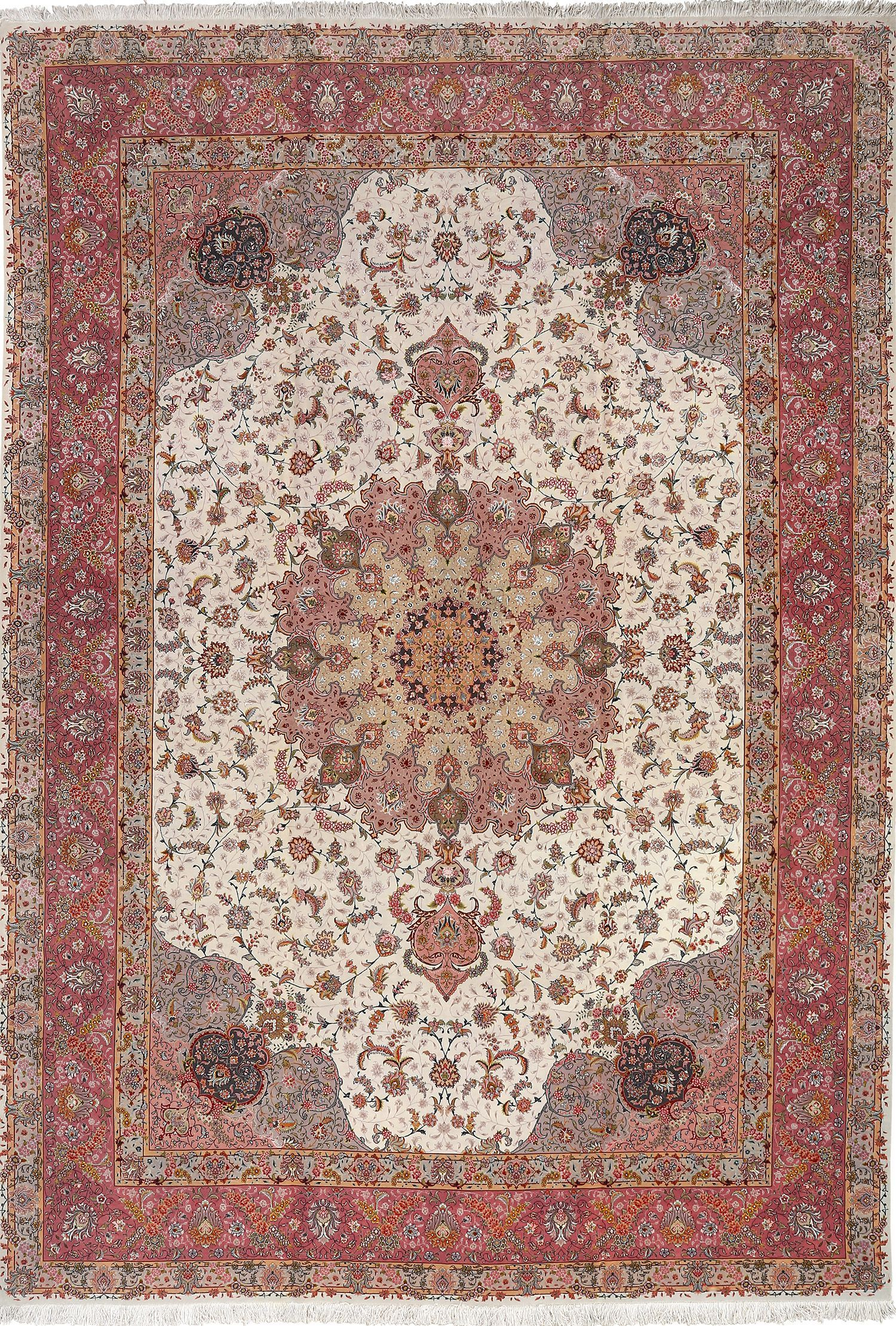 Click Here To View This Intricate And Fine Large Vintage Tabriz Persian Rug 51068 Available For