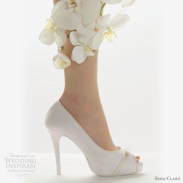 Wedding Shoes Rosa Clara 2011 White Bridal Shoes Bride Shoes