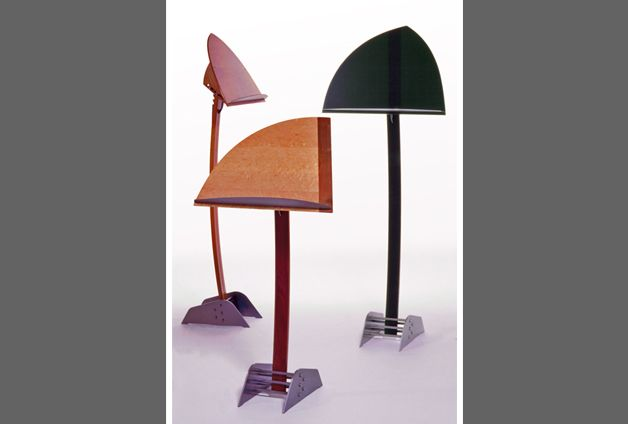 Exquisite wooden and steel music, table top, & podium stands.