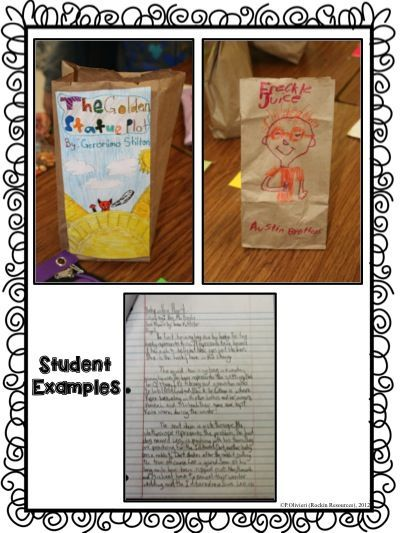 student examples of paper bag book report