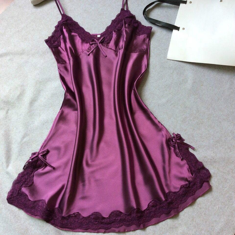 Woman dresses silk slips solid camisole women full ladies long