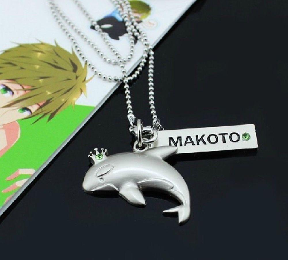 Free Iwatobi Swim Club Makoto Whale Style Anime Pendant Necklace Alloy New