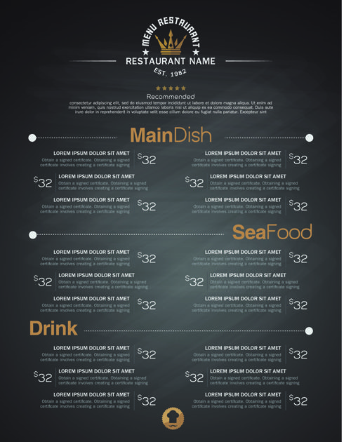 Restaurant menu price list creative vector 04 Vector Pinterest - price sheet template