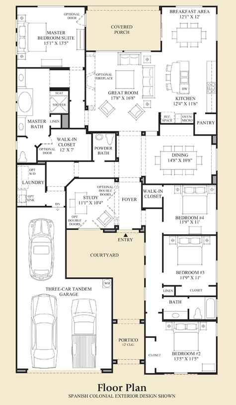 New Luxury Homes For Sale In Scottsdale Az Windgate Ranch Scottsdale Cassia Collection Home Design Floor Plans My House Plans New House Plans