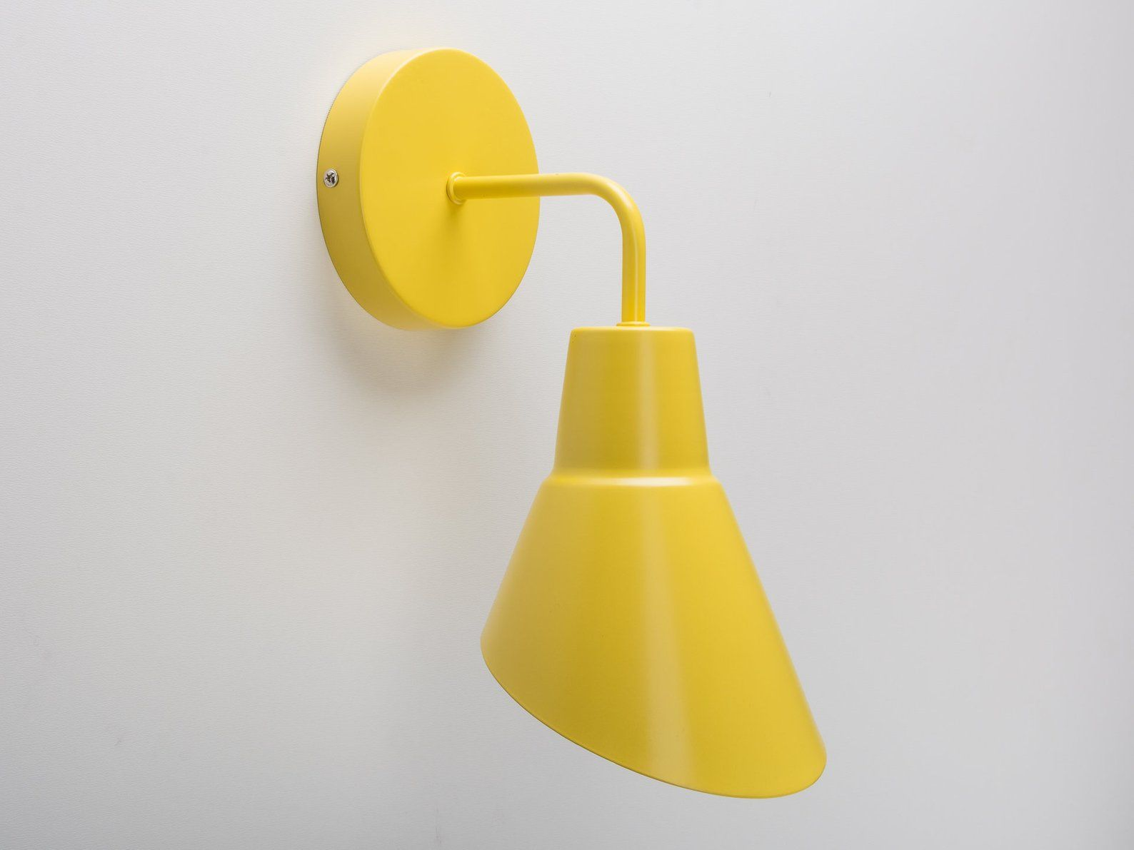 Minimalist Color Wall Sconce With Shade Yellow On Off Etsy Sconces Wall Sconces Candle Wall Sconces