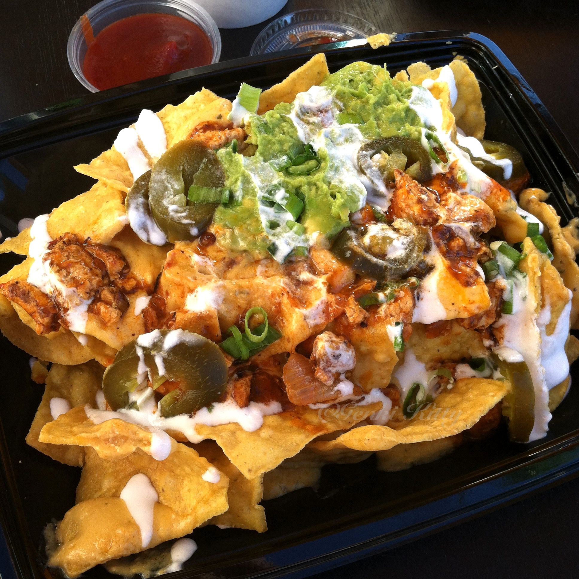 Veggie Grill's Mondo Nachos - my favorite dish from this vegan restaurant in California. I eat this every time I visit.