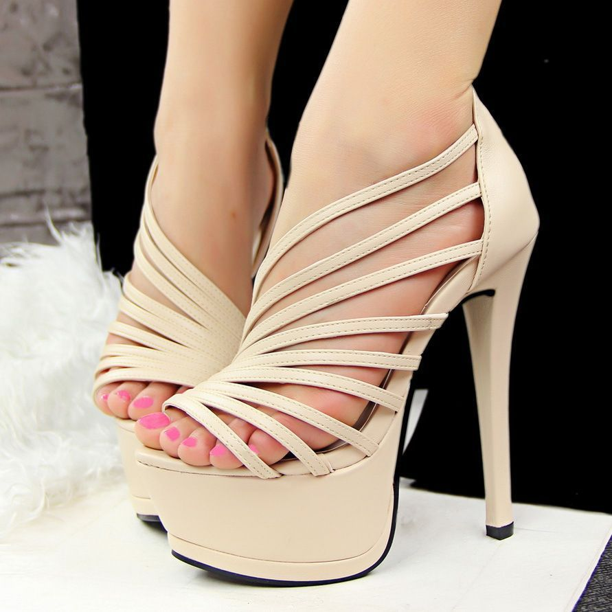 Cross Strap Casual Shoes Gladiator Women High Heel Sandals Women s Peep Toe  Platform Stilettos High Heels Comfortable  prom ef60f36ca230