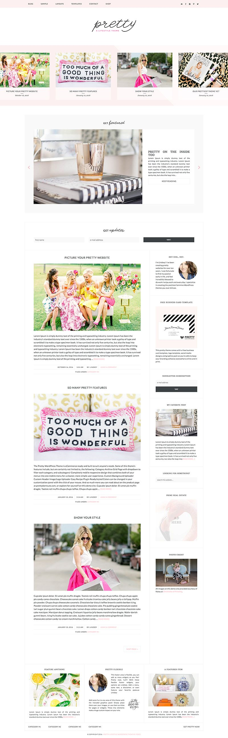 Pretty wordpress theme social media template free business pretty wordpress theme free business card magicingreecefo Gallery