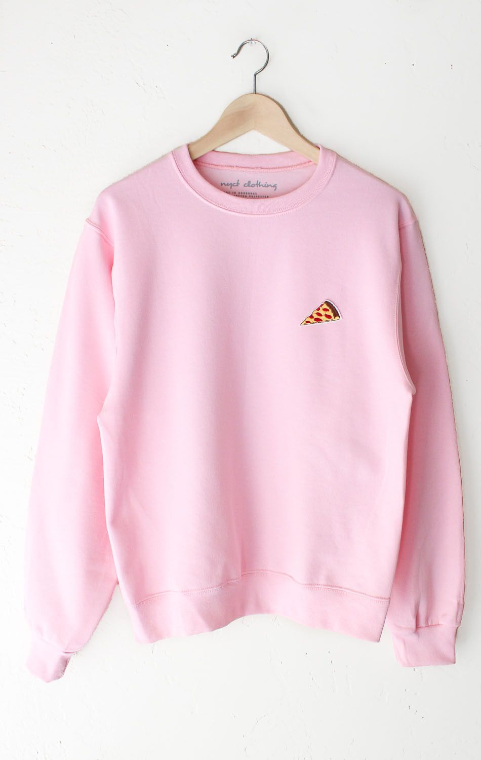 Pizza Oversized Sweater Pink Shirts Pinterest Sweaters Tendencies Black Logo Pullover Hitam Xl Description Size Guide Details Crewneck Sweatshirt In Classic With Patch On Front Left Chest Brand Nyct Clothing