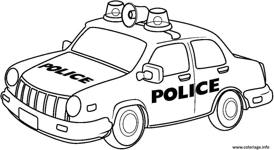 Coloriage Voiture De Police