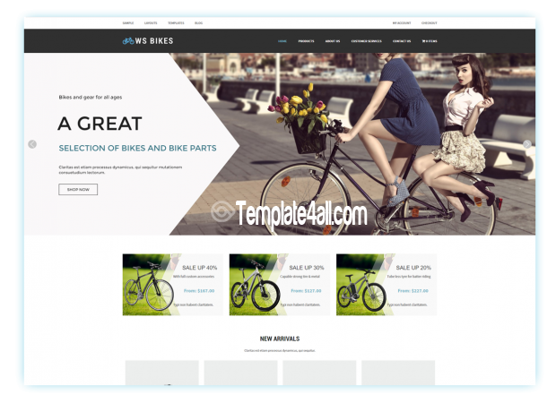 WordPress Themes - Bikes WooCommerce Theme #wordpress #bikes ...