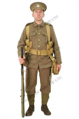 The Full Uniform Worn By A British WW1 1914 BEF Soldier