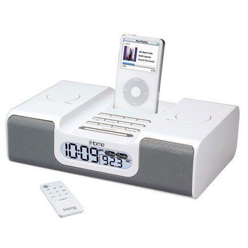 Amazon com: iHome iH8 Clock Radio for iPod (Silver): MP3