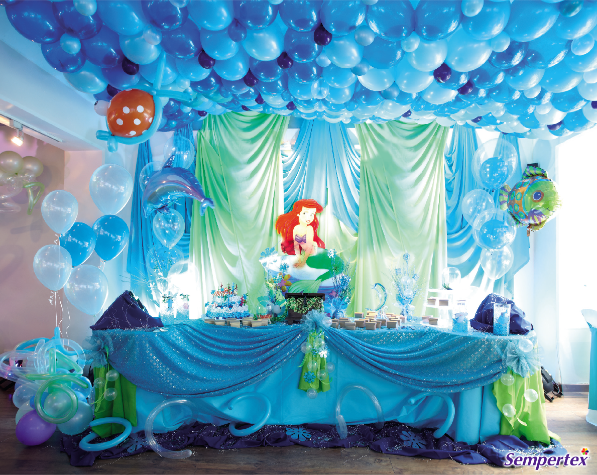Pin de clary en mermaid party pinterest globo for Fiesta tematica sirenas