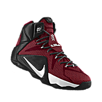 new product 1ccb0 35f22 I designed the team red Nike LeBron 12 iD men s basketball shoe with black  and white trim.