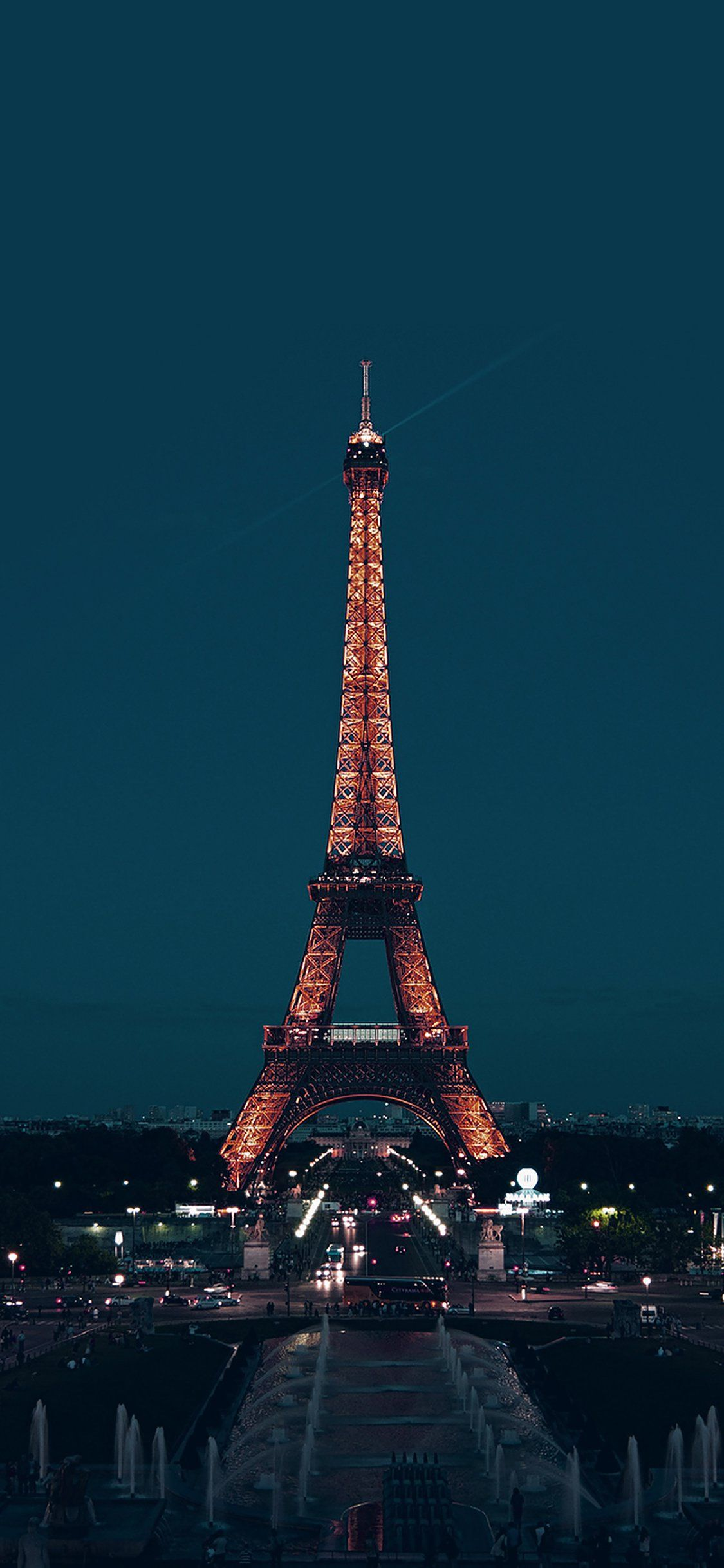 City blue Eiffel tower iPhone X Wallpapers Paris at