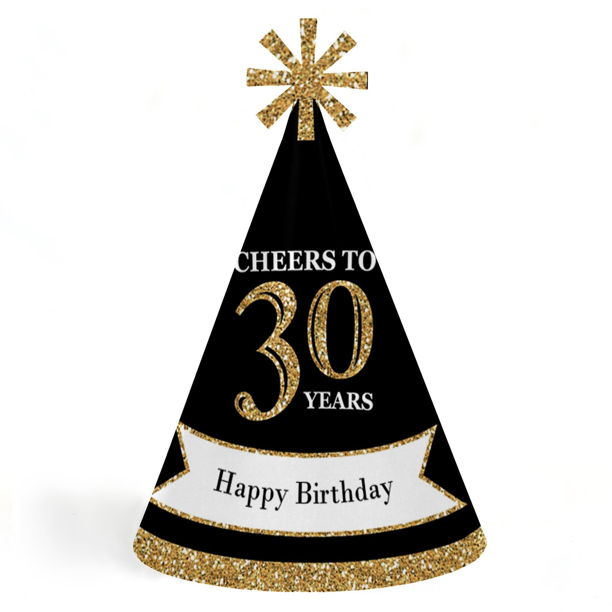 Adults 30th Birthday Gold Cone Party Hats For Kids And Set Of 8 Standard Size Learn More By Visiting The Image Link