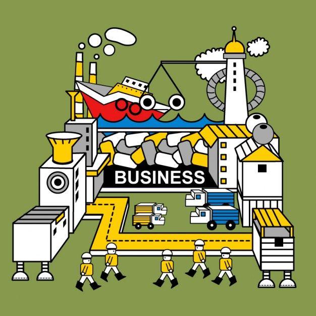 Robot factory illustration *Idk* Pinterest Robot factory - new robot blueprint vector art