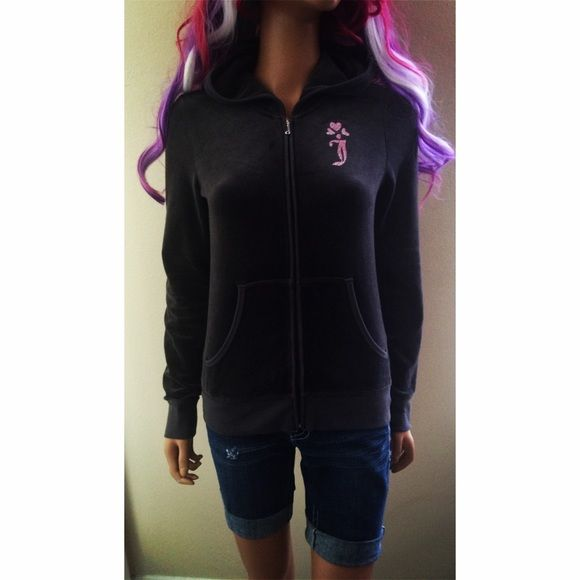 Juicy Couture Gray Hot Pink Velour Zip up Hoodie Beautiful Gray & Hot Pink zip up Hoodie Jacket by Juicy Couture! Worn a couple times but in great condition. Size Medium.  Check out my Closet I love to Bundle Discount  Juicy Couture Tops Sweatshirts & Hoodies