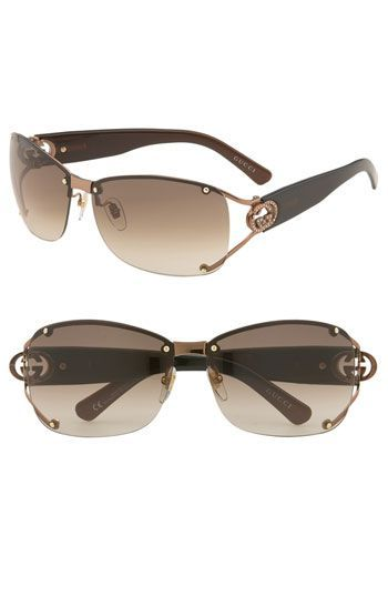 d82449282959 Gucci Open Temple Rimless Shield Sunglasses available at #Nordstrom ...