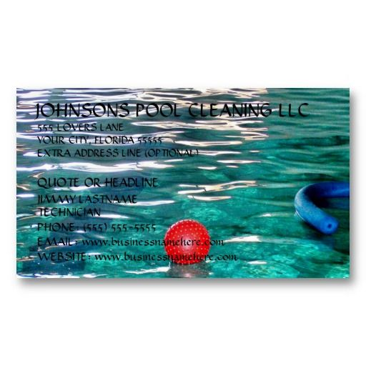 Swimming pool business card swimming pool business cards swimming pool business card colourmoves