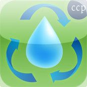 iPad-Interactive showing the four stages of a Water Cycle in a simplified visual manner.