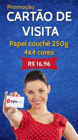 Impressão de cartão de visita com qualidade, rapidez e baixo custo, cartões de visita a partir de R$ 16,96, CONFIRA: www.papira.com.br