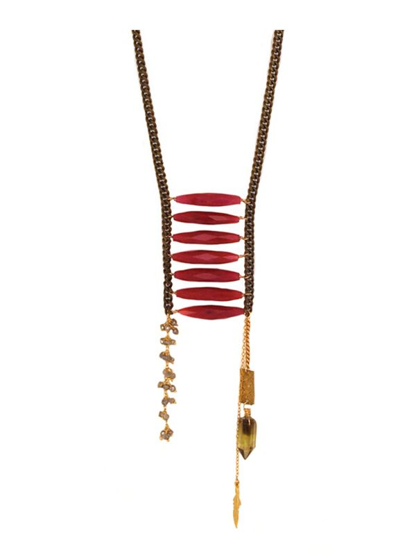 Magenta Jasper Warrior Necklace