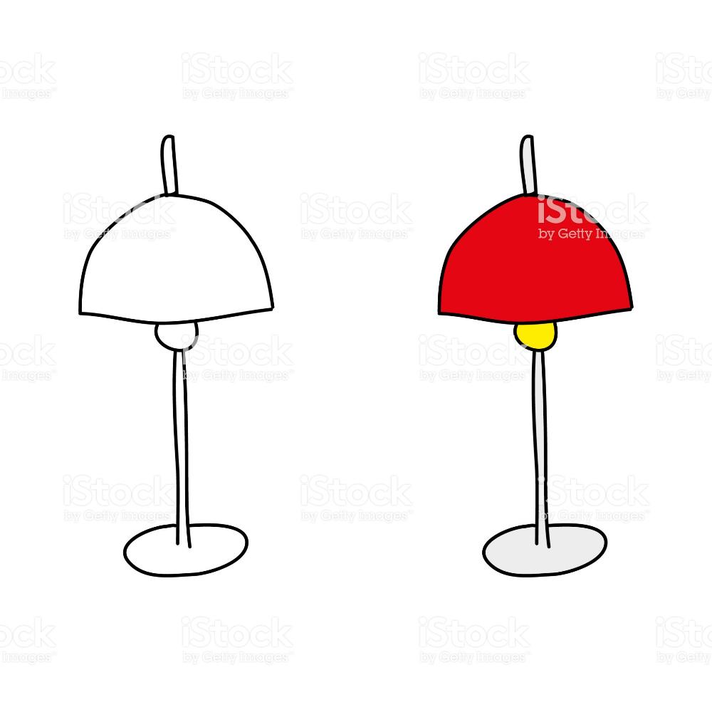 Cartoon Drawing Of A Lamp Free Vector Art Cartoon Drawings Free Cartoons