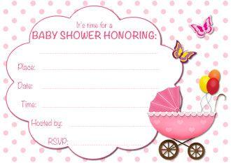 Free Printable Baby Shower Invitations My Free Printable Cards Com