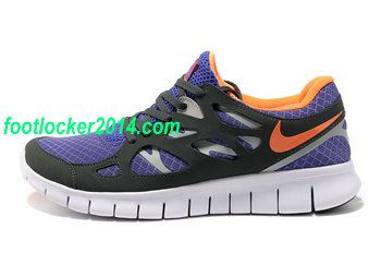 6e0408877fc1 Nike Free Run 2 Mens Sneaker Purple Orange Black